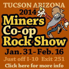 2014 Tucson Miners Coop Rock Show ad