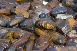 A grade Banded Iron Formation (BIF) for sale in Wyoming. Sculptured Wind Slicks • Rough • Slabs