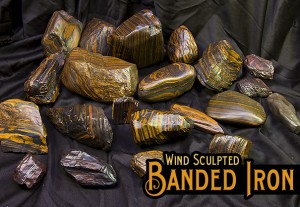 AA Grade Banded Iron Formation (BIF) for sale in Wyoming. Sculptured Wind Slicks