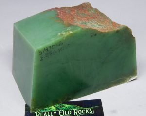 Wyoming Apple Green Nephrite Jade Slab