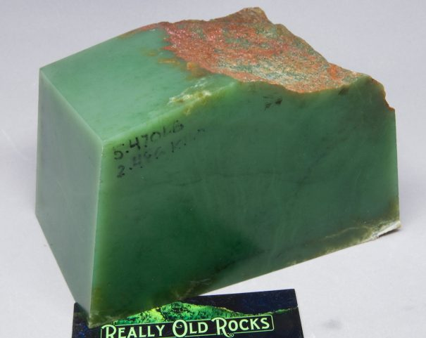 Wyoming Apple Green Nephrite Jade Slab