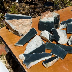 Wyoming medium olive whiteskin nephrite jade for sale