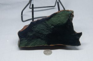 Rare Edwards Black Nephrite Jade with Frogskin green patterns