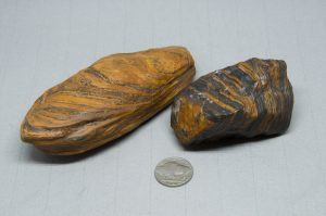 Naturally carved and polished wind slicks from Wyoming, USA of Genesis-Banded Iron Formation-Seer Stones. A grounding experience with 2 billion year old Genesis Stone, a type of Banded Iron Formation (BIF).