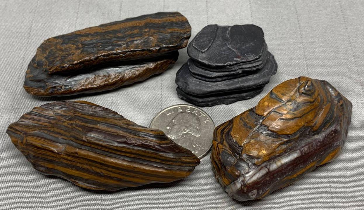 Miners select Pocket Stones - Genesis Stone/Jasper - Banded Iron Formation - Mormon Seer Stones