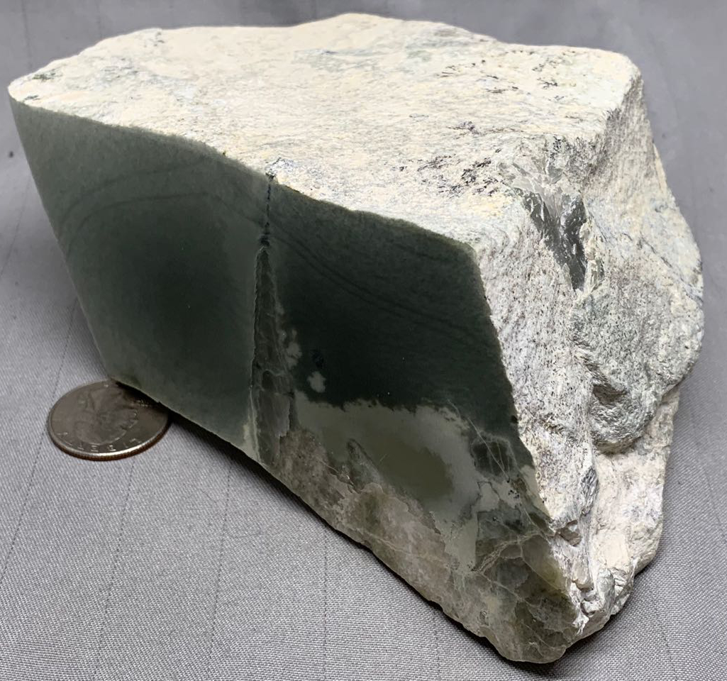 Wyoming Nephrite Jade with Quartz Crystals