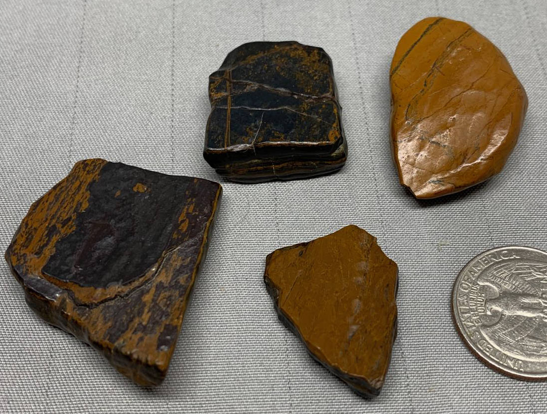Pendant/Pocket Stones - Genesis Stone-Banded Iron Formation- Mormon Seer Stones