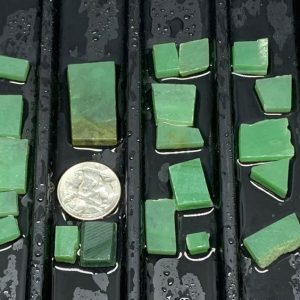 Wyoming apple green nephrite jade jewelry grade off cut slabs