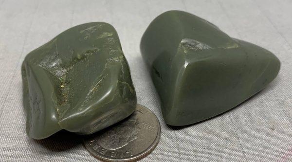 Bull Canyon Wyoming nephrite jade tumbled