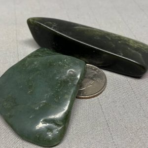 Bull Canyon Wyoming nephrite jade tumbled