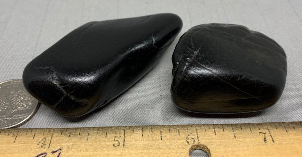 Wyoming black nephrite jade river cobble from the N. Platte River