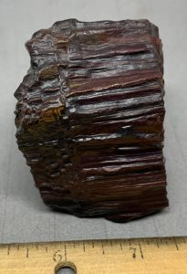 Red Banded Iron formation Genesis Stone wind slicked specimens Wyoming USA