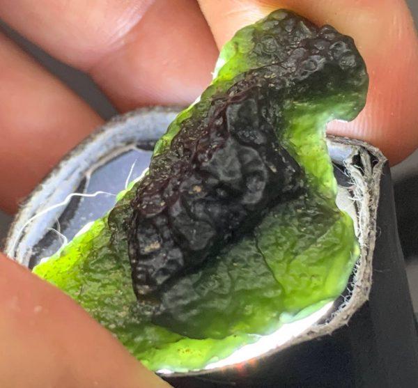 4 Dark Emerald Cinder nuggets of Wyoming nephrite jade